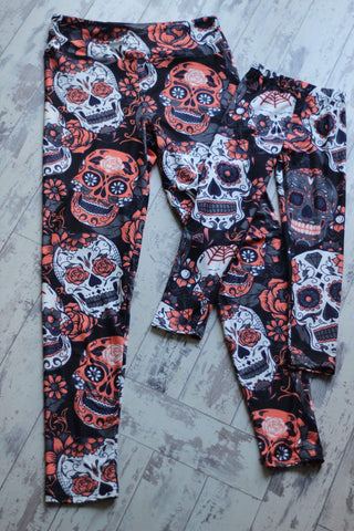 Spooky Leggings: Mommy and Me