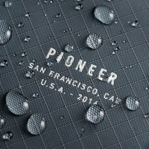 3pn pioneer wallet material water drop closeup
