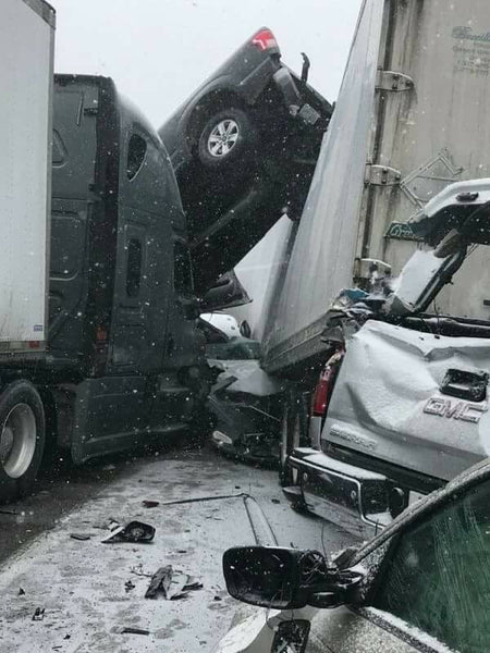 Pileup After Pileup: Massive 100-Car Pileup on Sunday