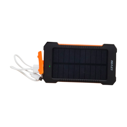 USB Portable Solar Charger with LED Flashlight