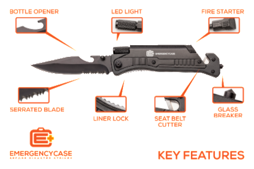 6-In-1 Emergency Preparedness Knife
