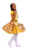 Girls African Print Flared Bow Pin Up Skirts Children Clothes Brown