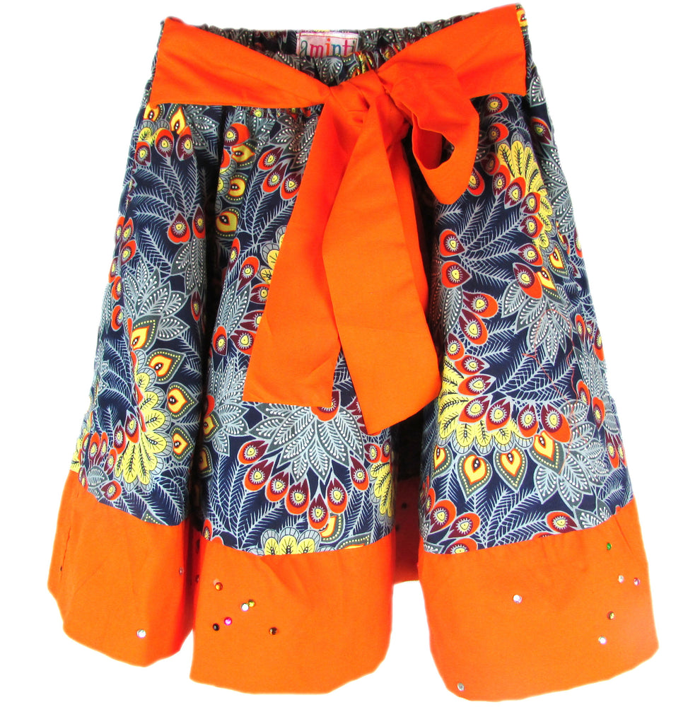 African Print Skirts for Girls