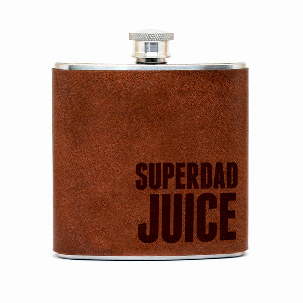 SuperDad Juice – Leather Flask