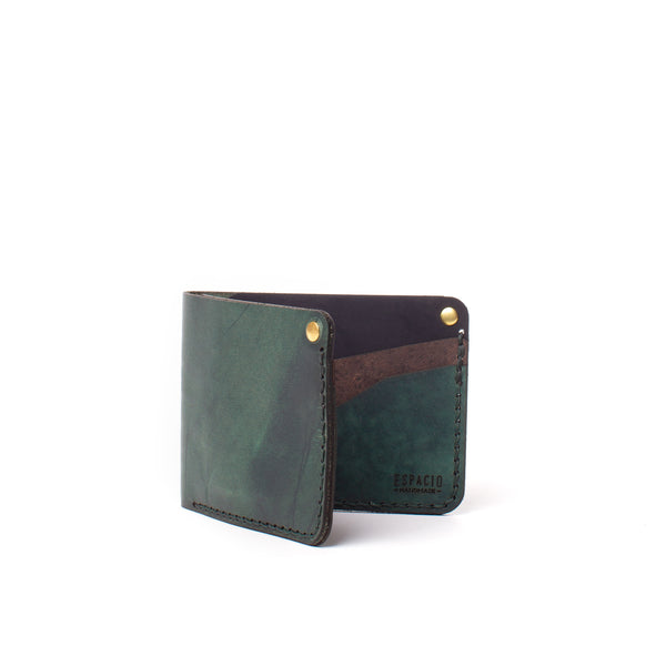 Classic Bifold Leather Wallet - Teal