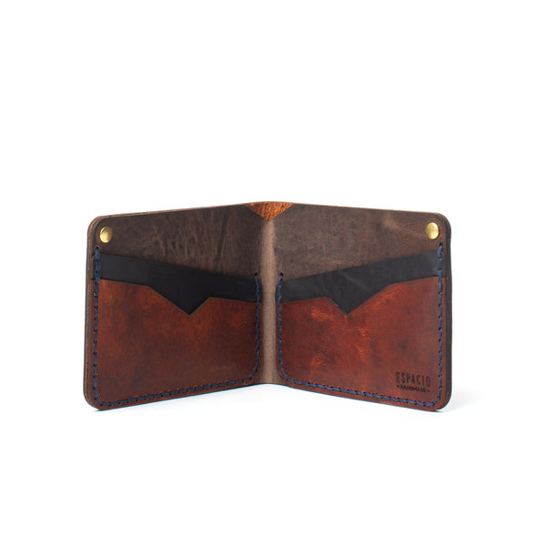 Classic Bifold Leather Wallet - Cowboy Brown