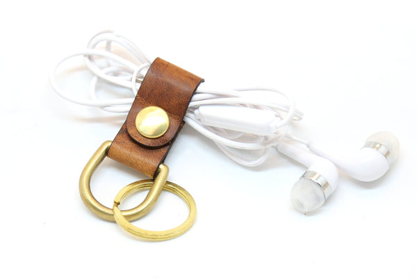 Leather Cord Keepers By Espacio Handmade