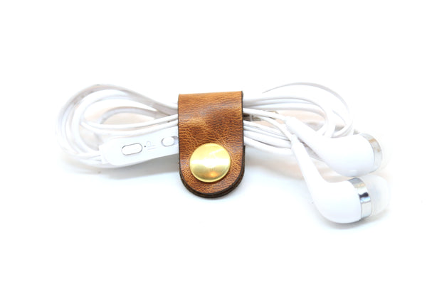 Leather Cord Organizer by Espacio Handmade