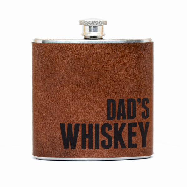 Dad's Whiskey – Leather Flask