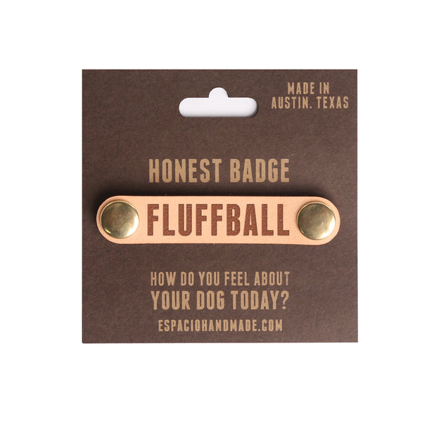 Honest Badges for Honest Collar Leather Dog Collar