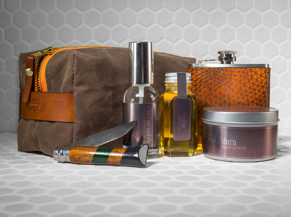 Dopp Kit, Flask & Grooming Care