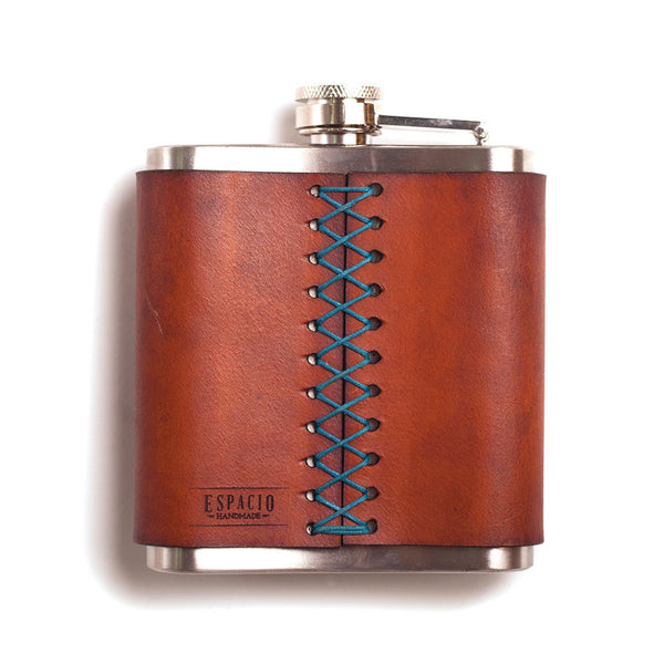 The Groomsmen Special – 6 Leather Flasks – Customized