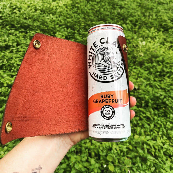 Leather Slim Can Cozie