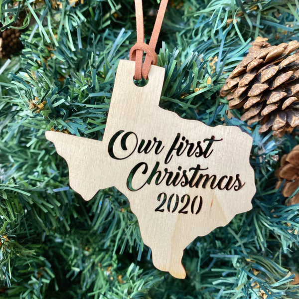 Our First Christmas Texas Ornament
