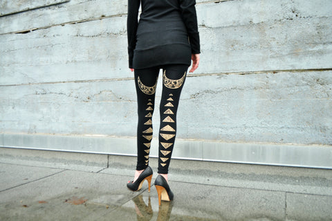 High Priestess Print bamboo Jersey Leggings