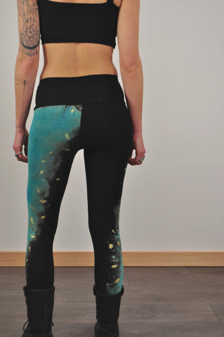 Galaxy Print Jersey Leggings