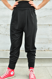 High Waisted Bamboo Jersey Harem Pants