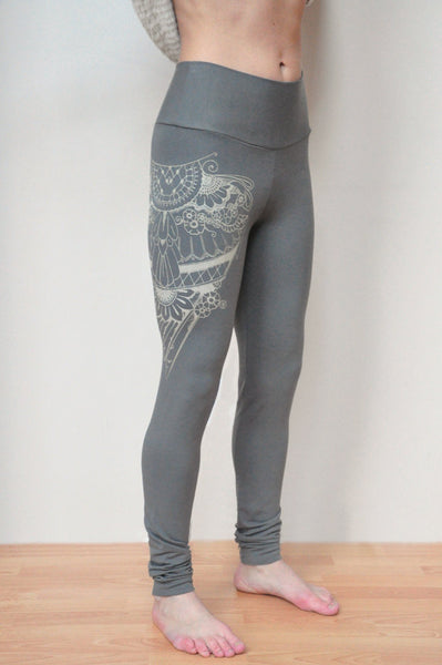 discount coupon look out for good texture Henna Eagle Wing Print Bamboo Yoga Leggings