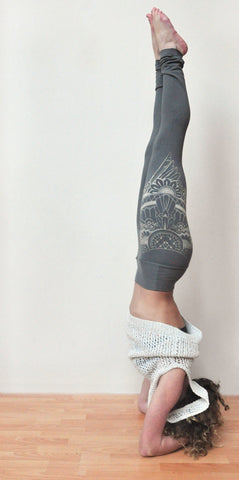 Henna Eagle Wing Print Bamboo Yoga Leggings