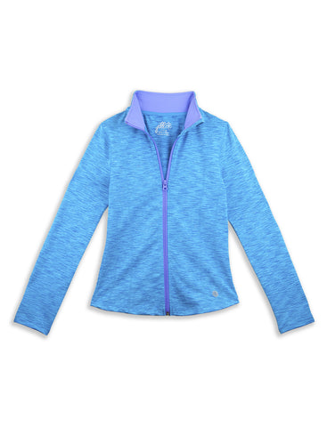 GIRLS HEATHERED YOGA JACKET