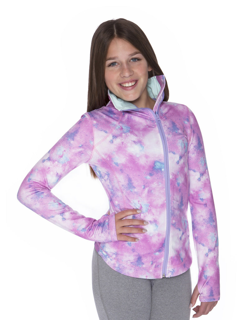 GIRLS FUNNEL NECK YOGA JACKET
