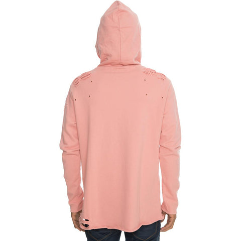 Men's Salmon Distressed Hoodie