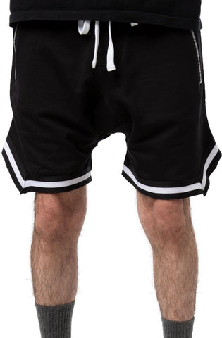 Dropped Track Shorts