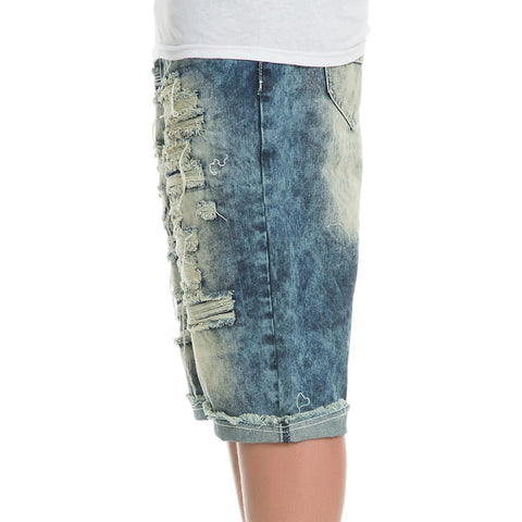 Men's Rip Denim Shorts