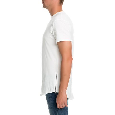 Men's Scallop Tee W Zip Si