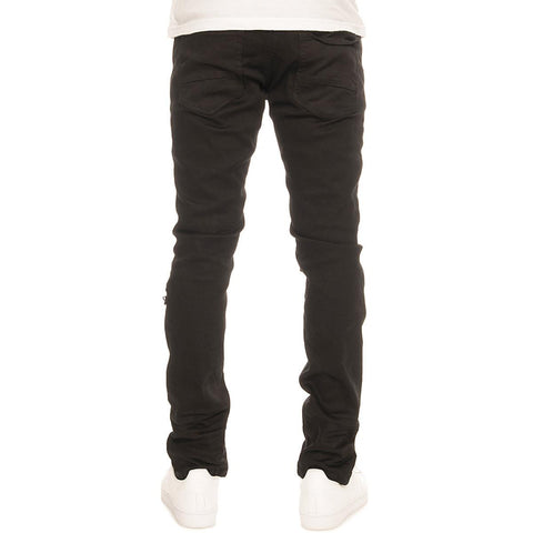 Men's Ripped Twill Denim Jeans
