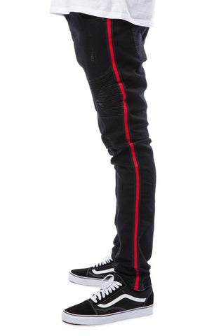 Dunning Moto Side Stripe Jeans