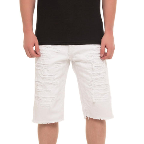 Men's Ripped Denim Shorts