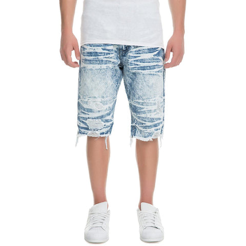 Men's Denim Rip Shorts