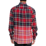 Men's Dip Plaid Woven Shirt