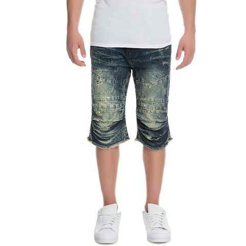 Men's Denim Knee Rip Shorts