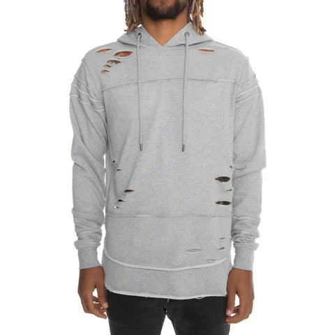 Men's Ripped Layered Hoodie