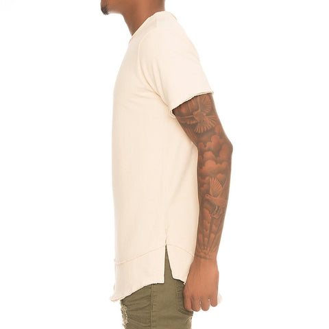 Men's Double Layer Raw Edge Tee