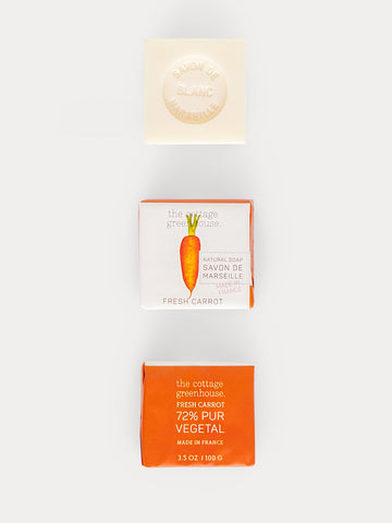 Fresh Carrot French Shea Butter Soap by The Cottage Greenhouse