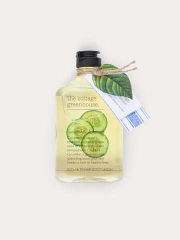 Cucumber & Honey Rich & Repair Body Wash by The Cottage Greenhouse