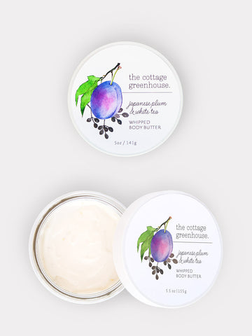 Japanese Plum & White Tea Whipped Body Butter by The Cottage Greenhouse