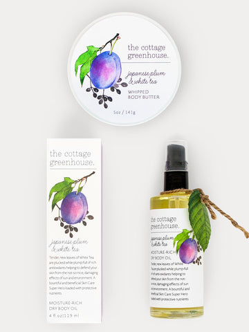 Japanese Plum Body Butter & Dry Body Oil Gift Duo
