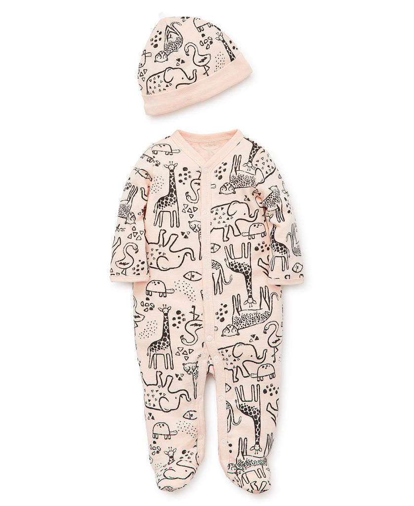Safari Zip Up Footie Set