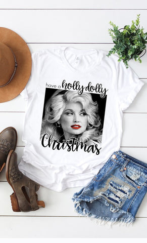 Have a Holly Dolly Christmas Graphic Tee