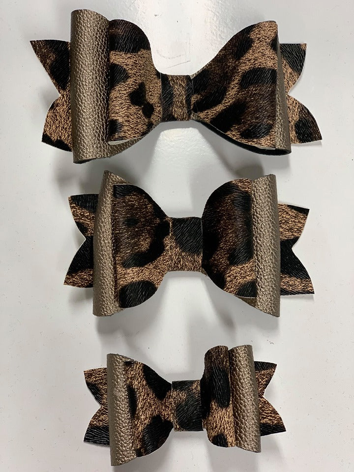 Bronze & Leopard Bows- 3 Options