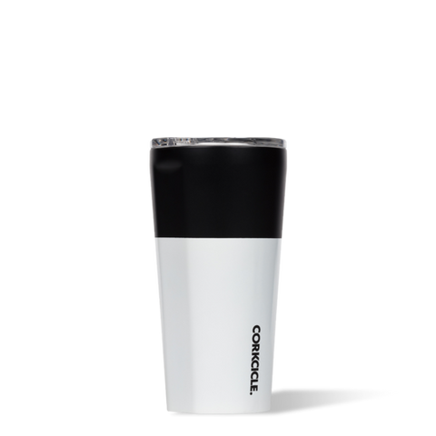 16oz Corkcicle Color Block Black Tumbler