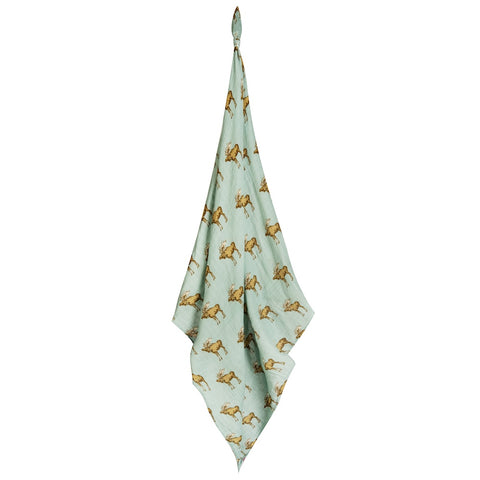 Milkbarn Moose Swaddle Blanket