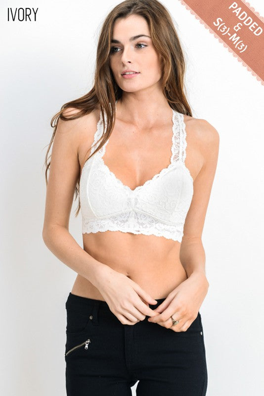 Lacey Razor Back Bralette (4 Colors)