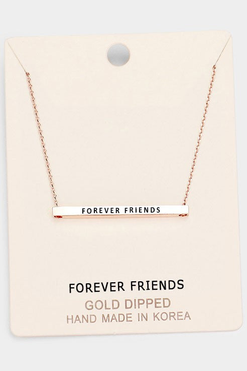 Friends Forever Horizontal Bar Necklace