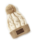 Sota Cable Knit Beanie-Natural