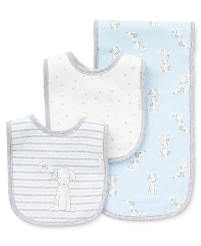 Puppy Hugs Bib & Burp Set